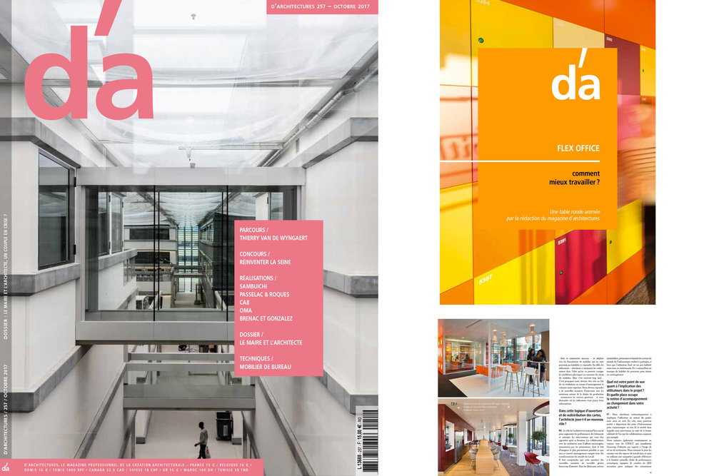 Majorelle est présent dans le dernier magazine DA' d'octobre 2017. Un Tiré à part distribué dans ce numéro qui revient sur une table ronde dédiée au Flex Office. Pour télécharger la brochure, cliquez ici