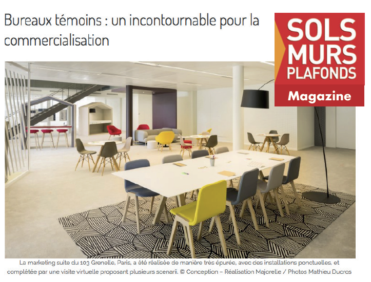 Le dernier numéro du magazine Sols Murs Plafonds donne la parole à Majorelle dans un dossier dédié au tertiaire.    Lire l'article...