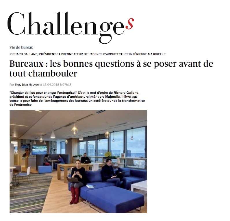 Richard Galland Cofondateur de Majorelle est interviewé dans le magazine Challenges.      Lire l'article...