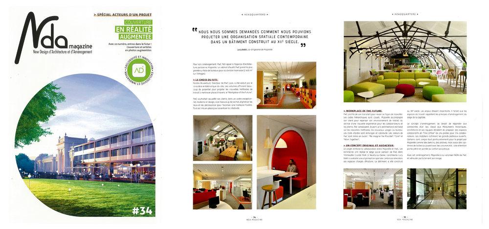 Le dernier numéro de NDA magazine, consacre un article sur le projet imaginé par Majorelle pour le cabinet PwC, Lyon Grand Hôtel Dieu.    Lire l'article