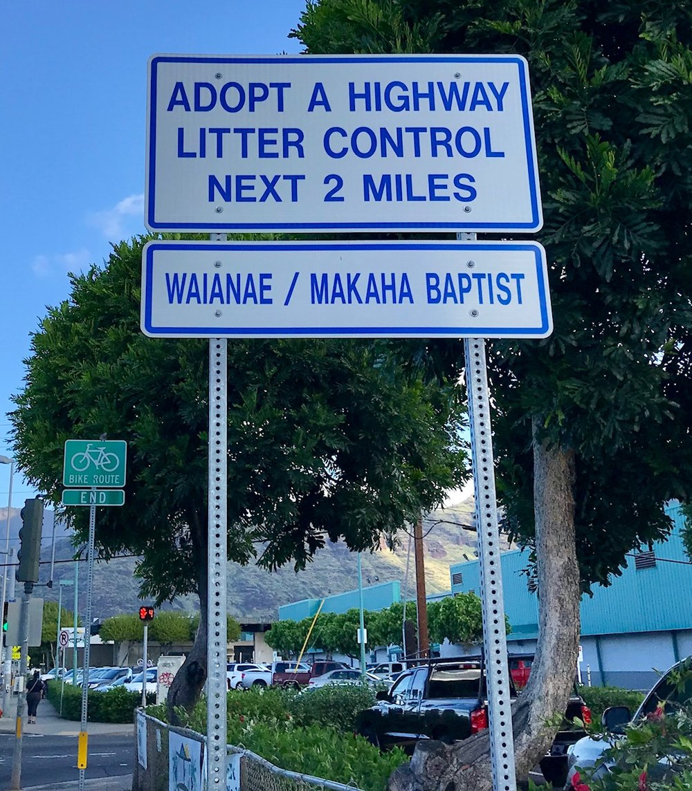 Taking care of our community. Adopt A Highway - Waianae Baptist undertakes our volunteer program every second Saturday of each month. Please join us as we support our friends and neighbors.