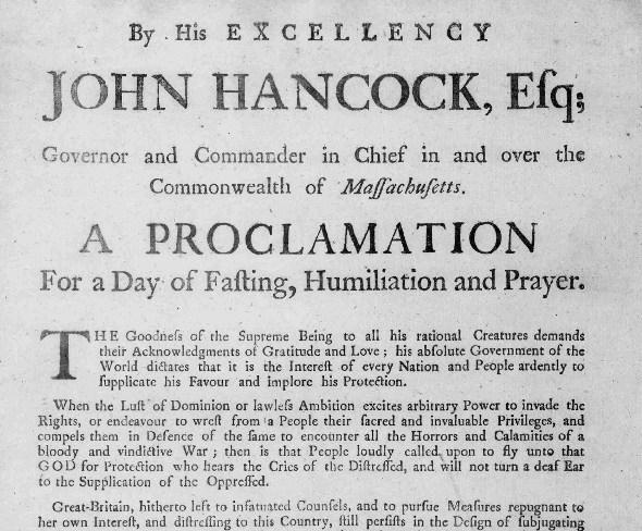 John Hancock - A Proclamation - Thanksgiving - Waianae Baptist Church & Worship Center.jpg