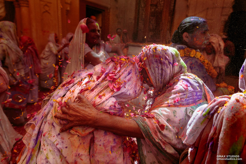 """""""We're happy that we can finally play Holi like everybody else, but even if it didn't happen, we are still deeply moved by Krishna in our hearts"""" said an old widow to us, when we asked her if she's excited about celebrating Holi with color."""