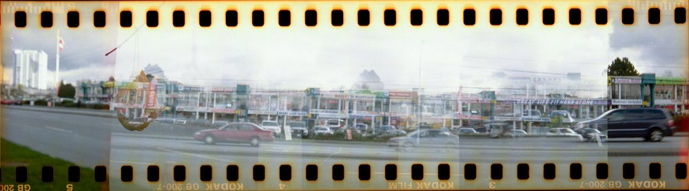 Panorama on film is very tough to achieve