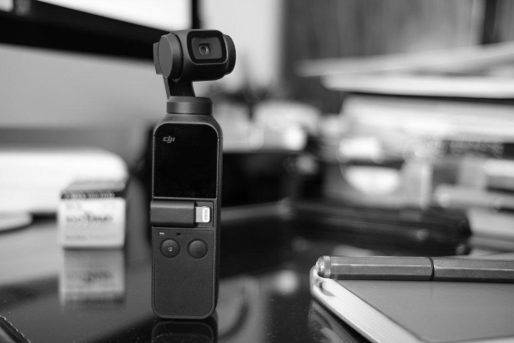 DJI Pocket Osmo on my desk.  Buy it here .