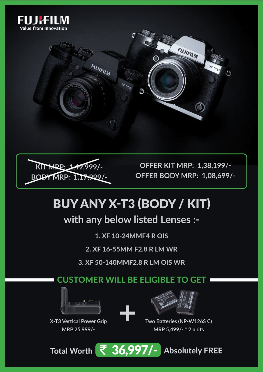 Fujifilm XT3 price in India