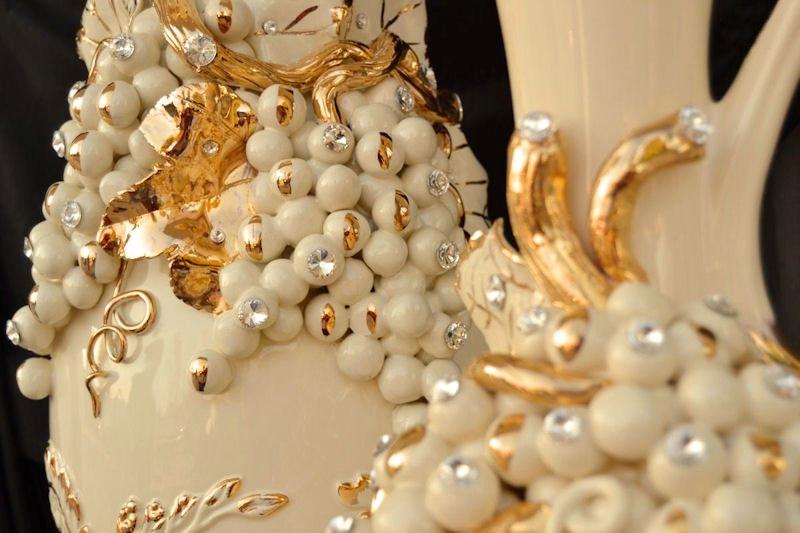 DIONISO - Frutta e Uva Oro fatta a mano Champagne e Bianco