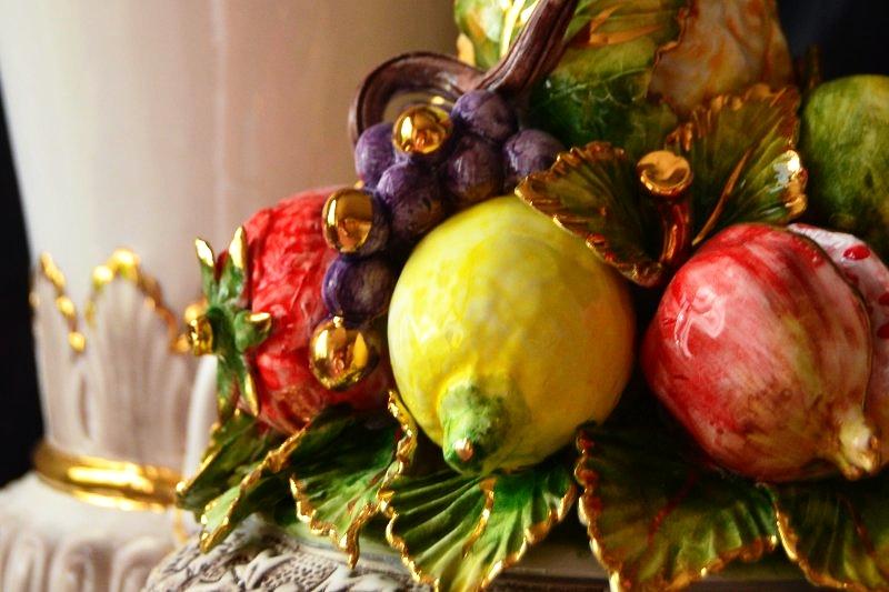 CONIRAYA - Złotem Owoce i Winogrona ręcznie wykonany i zdobione