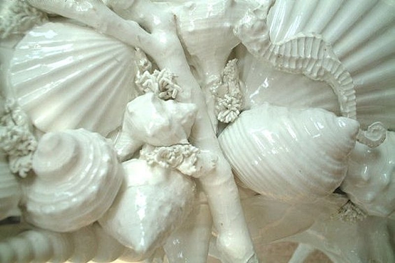 CORALLO - Raffinate composizioni di Conchiglie Bianche