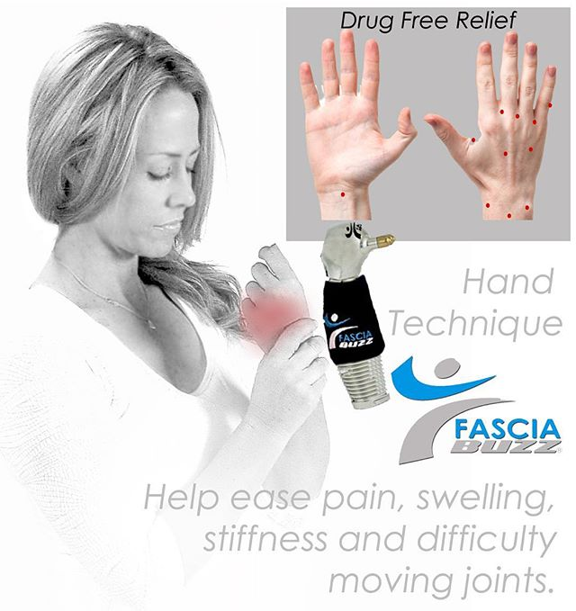 Do your hands ache?  Do you know someone battling arthritic pain?  Fascia Buzz can ease swelling, reduce joint pain and allows more fluid movement.  Try it today!! #arthritis #hands #crossfithands #fasciabuzztool #joints #dallas #crossstitch #knitting #tennis #golf