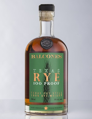 Balcones Texas Rye 100 Proof. Rye is always green.
