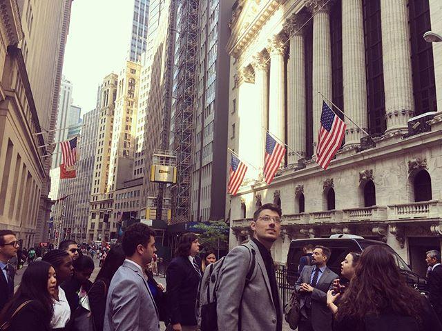 A beautiful morning outside the New York Stock Exchange building! #djnfbiz18