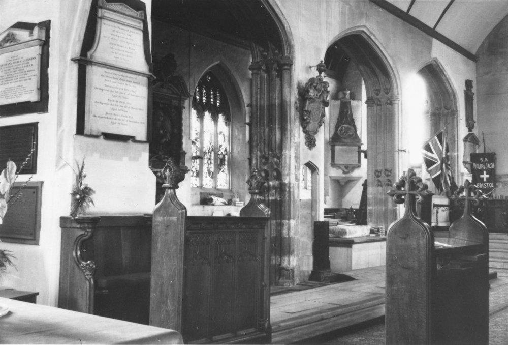 Chancel and Kemy's Ailse after removal of choir stalls but before partitions.