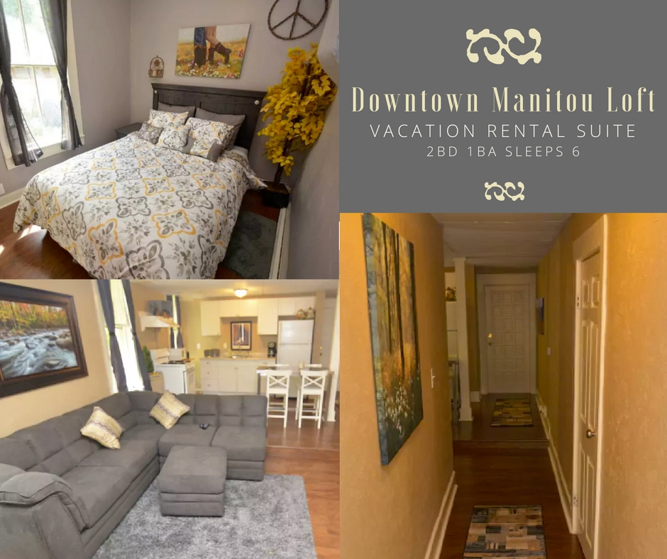 2BD 1BA SLEEPS 6 - DOWNTOWN MANITOU SUITE