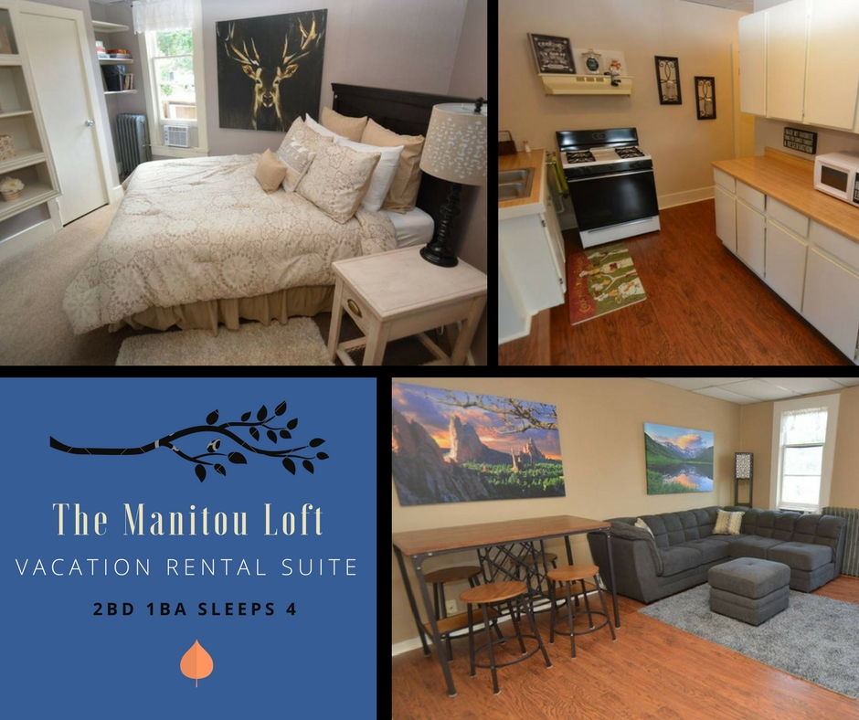2BD 1BA SLEEPS 4  - THE MANITOu LOFT
