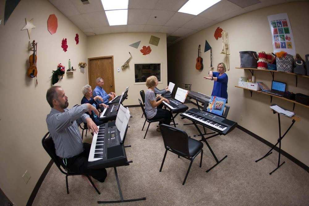 Adults At the Keys/Guitar   Learn More