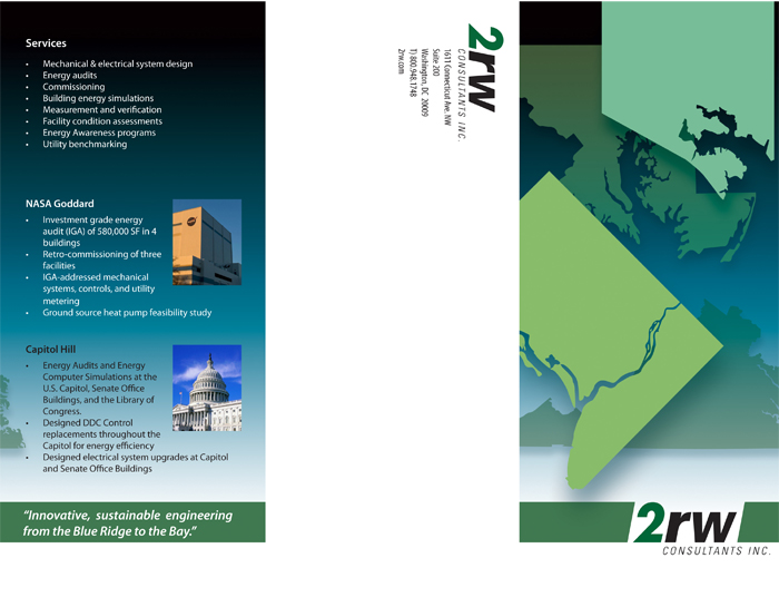 promotional flyer front, 2rw Consultants, Inc.