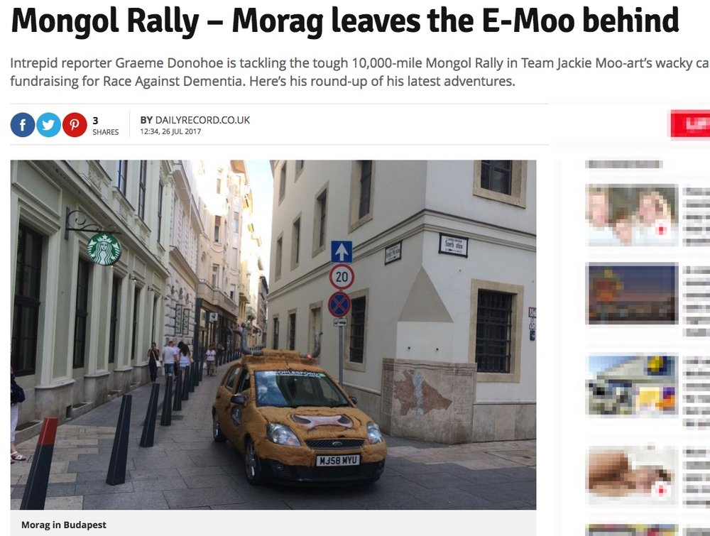 Mongol Rally - Morag Leaves the E-Moo Behind -
