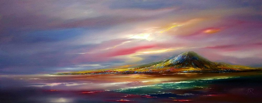 Kaleidoscope Over Jura - SOLD | Oil on Canvas | 40 x 100 cm |