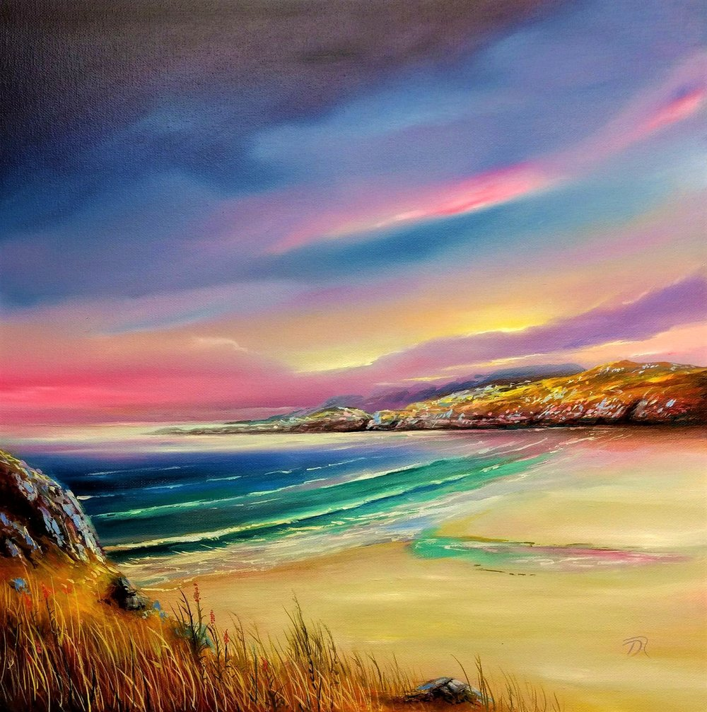 A Days End at Sanaigmore | Oil on Canvas | 50 x 50 cm  SOLD