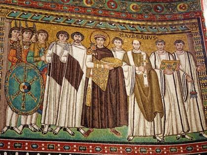 Emperor Justinian, San Vitale, Ravenna, 6th century