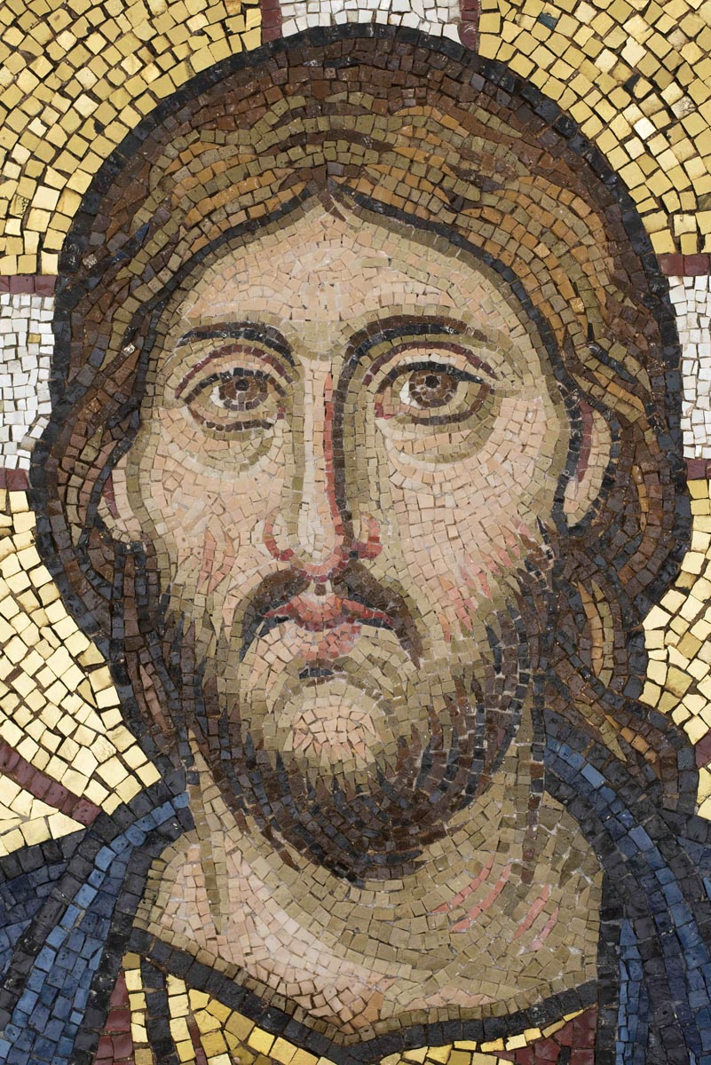 Face of Christ, Christ Pantocrator Mosaic, St George's, Houston, Texas