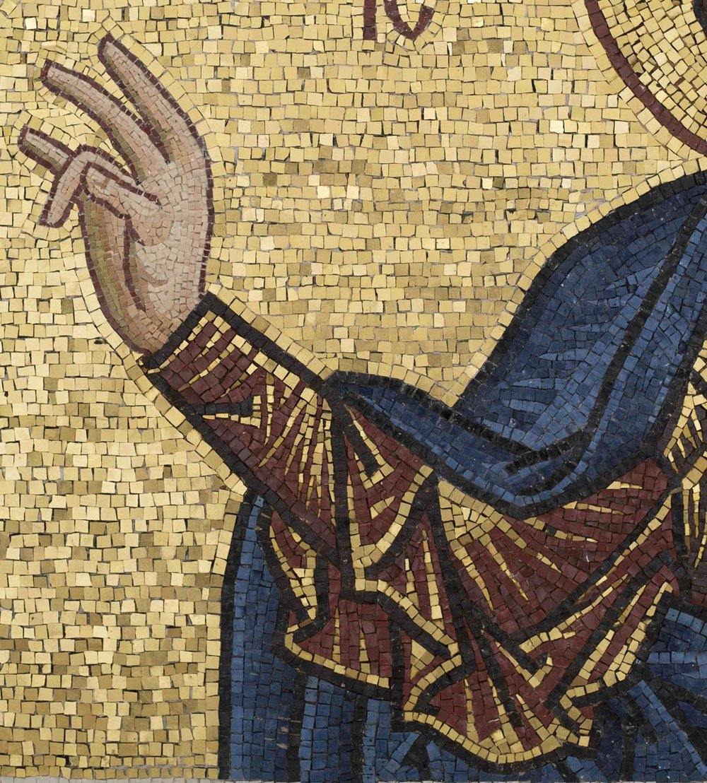 Right Hand, Christ Pantocrator Mosaic, St George's, Houston, Texas