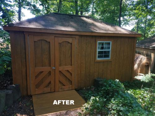 outdoor wood sheds affordable pressurewash solutions