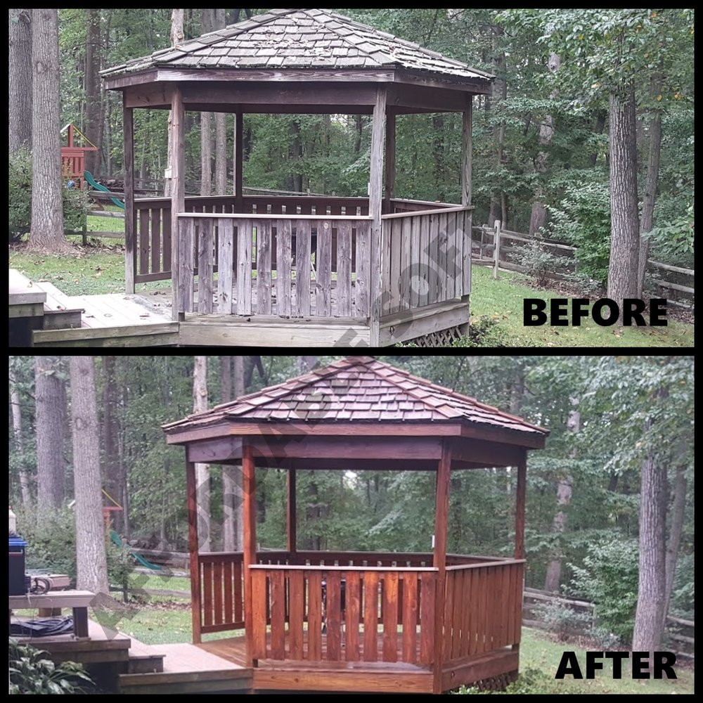Gazebo Wood Restoration | Deck Cleaning and Restoration Maryland and Virgina