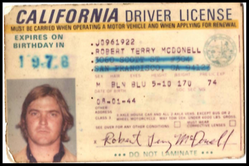 Terry McDonell Driver's License