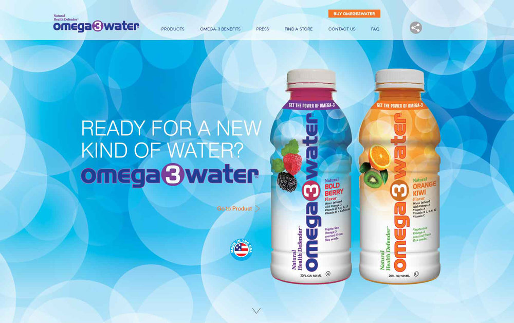 Omega3Water Website (more to come)