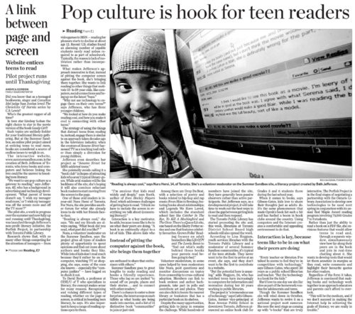 Perfink in the Toronto Star