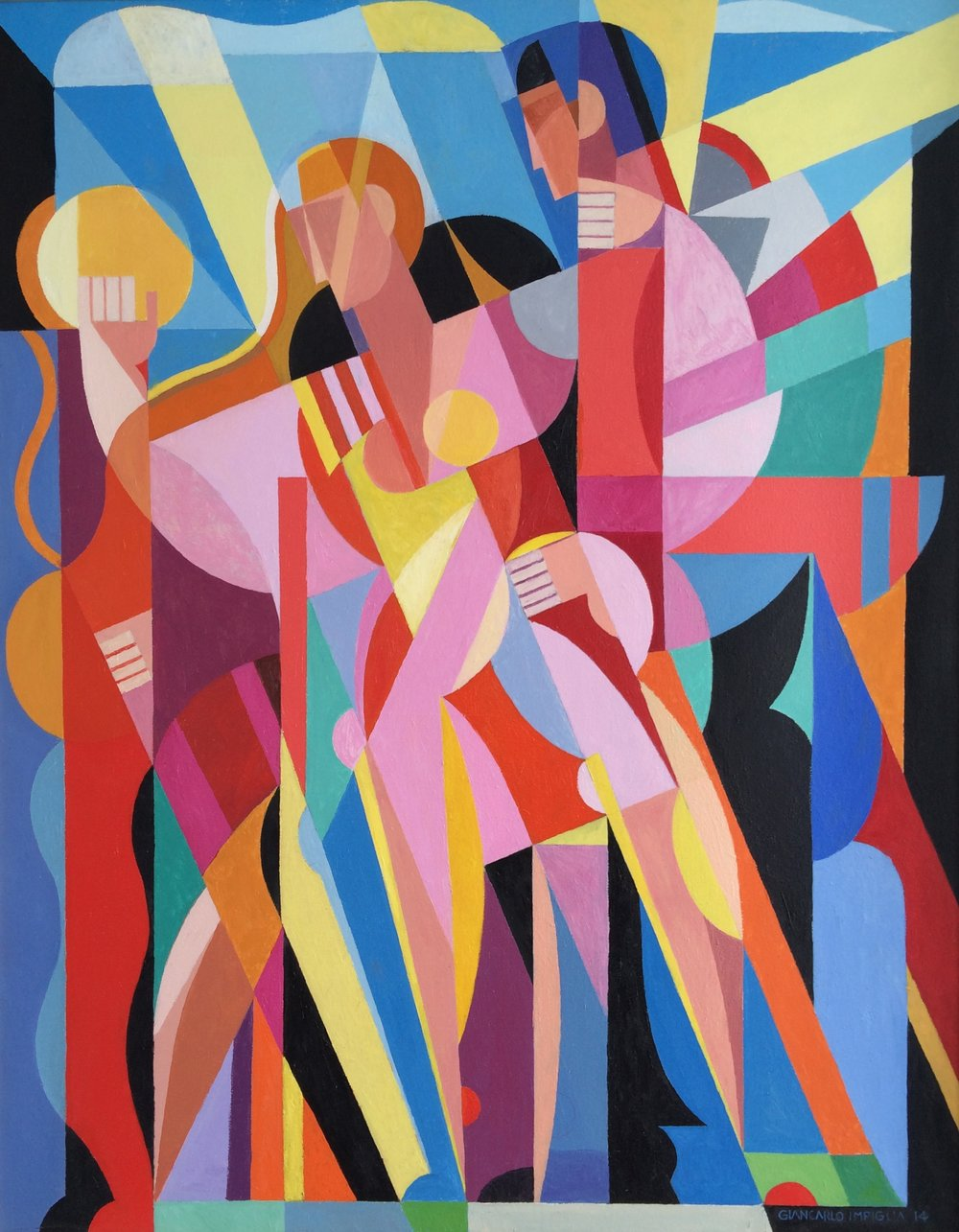 Energy of Bodies in Motion , 2014, Oil on panel, 37 x 47""