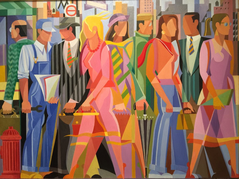 Morning Commute , 1998, Oil on canvas, 56 x 42""