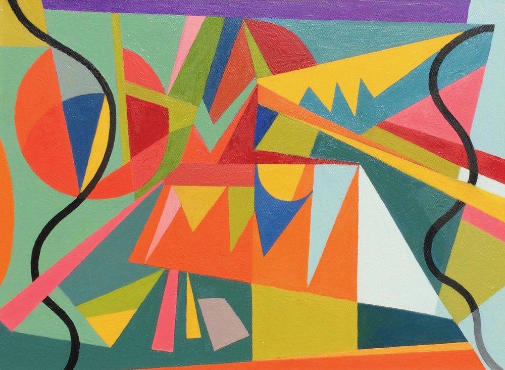 Confetti , 2012, Oil on panel, 26.5 x 30.5