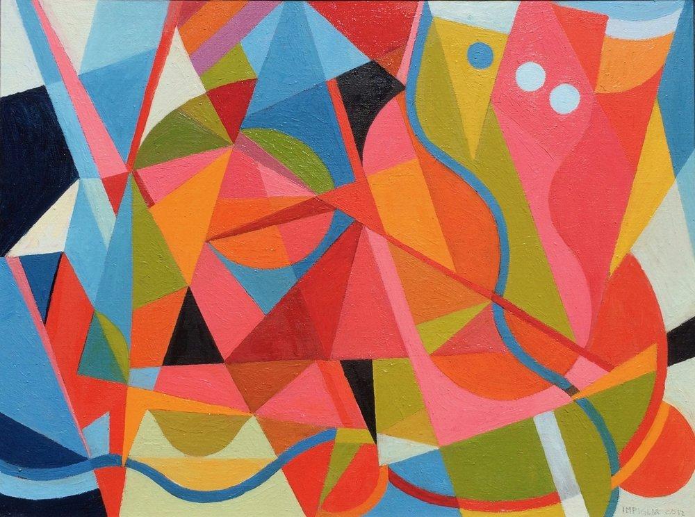 """Rhythms of Color , 2012, Oil on canvas, 30.5 x 24.5"""""""