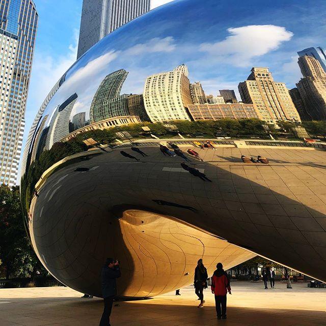 Era um sonho conhecer esse feijão 😍✅ #cloudgate aka #thebean 🖤 #chicago