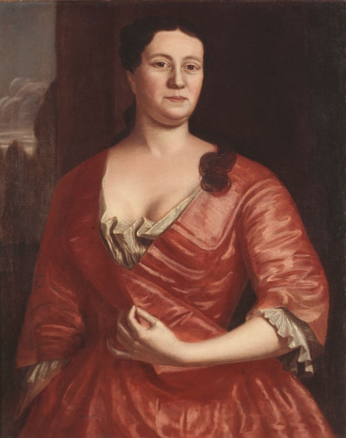 Robert Feke,  Sarah Hubbard Fayerweather (1730–1804),  ca. 1740–1760, Accession Number 1993.141.2, Historic New England. Estate of Eleanor Fayerweather.
