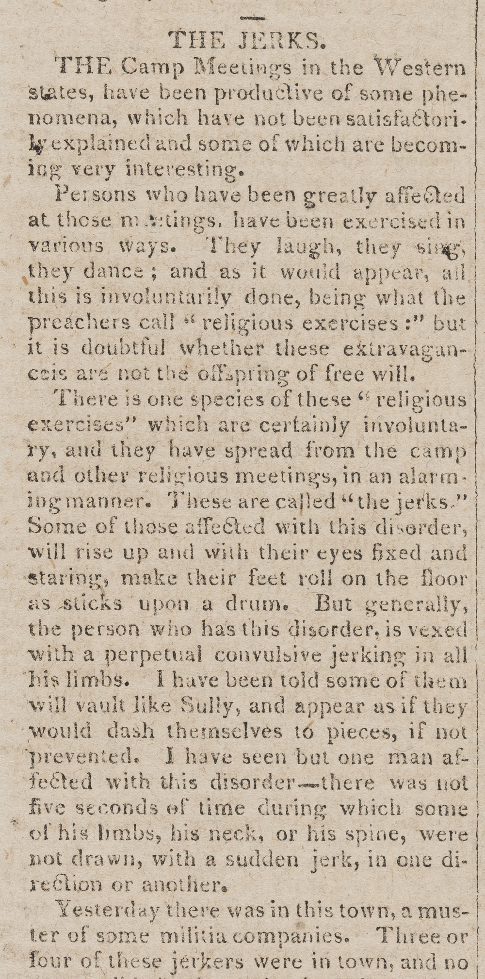 """The Jerks,""  Virginia Argus  (October 24, 1804). Image courtesy of the Library of Virginia, Richmond."