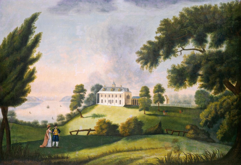 George Ropes,  Mount Vernon  (1806). Oil on canvas. 94 x 134.6 cm. National Gallery of Art, Washington, D.C.