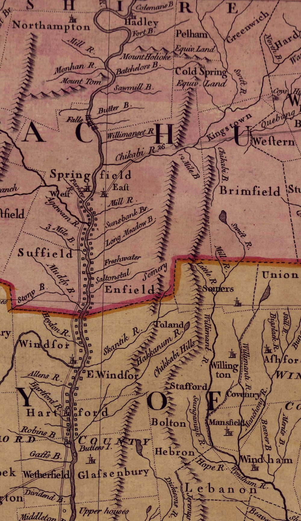 Detail from Thomas Jeffrys,  A Map of the Most Inhabited Part of New England  ([London], 1755). Geography and Map Division, Library of Congress (available  online ).