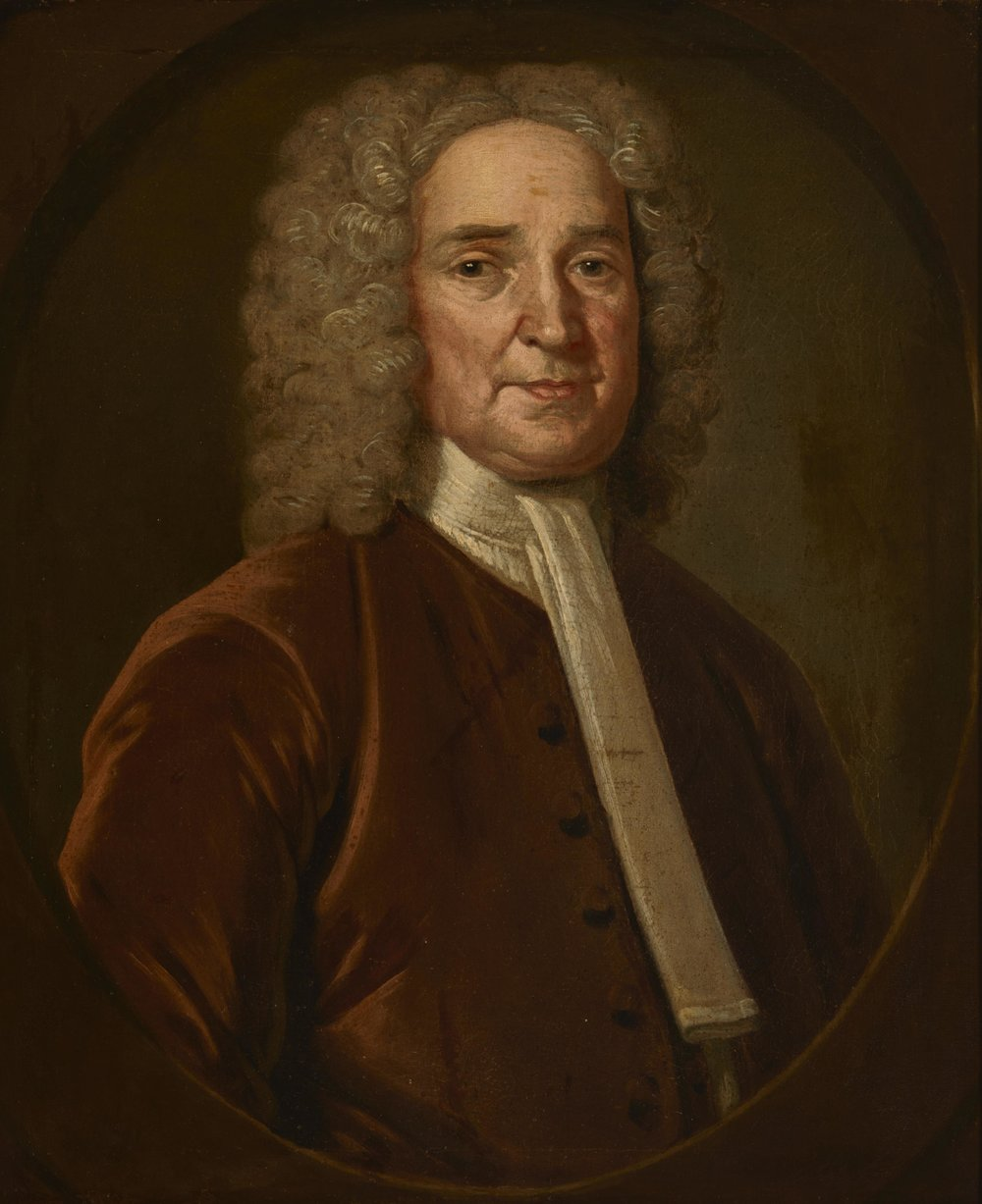 Unidentified Man (Josiah Cotton?) , by John Smibert, oil on canvas, circa 1736–1737. Gilcrease Museum, Tulsa, Oklahoma