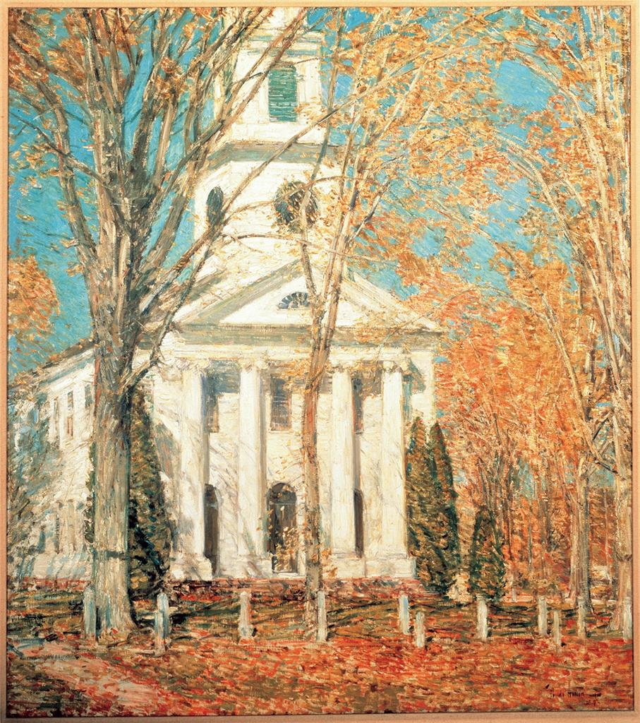 Childe Hassam,  Church at Old Lyme, Connecticut , 1905. Oil on canvas, 92.07 x 81.91 cm. Albert H. Gracy Fund, 1909. Collection of the Albright-Knox Art Gallery, Buffalo, N.Y.