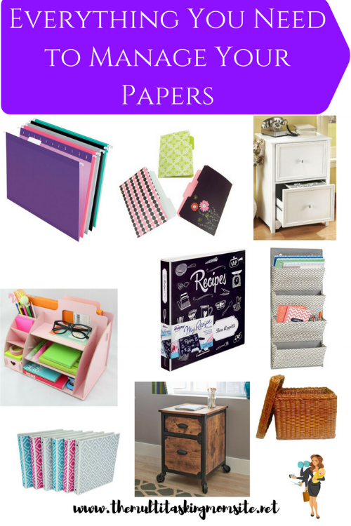 Check out this collection of cute, yet practical items to organize the papers in your home! This is where form meets function in the home office.