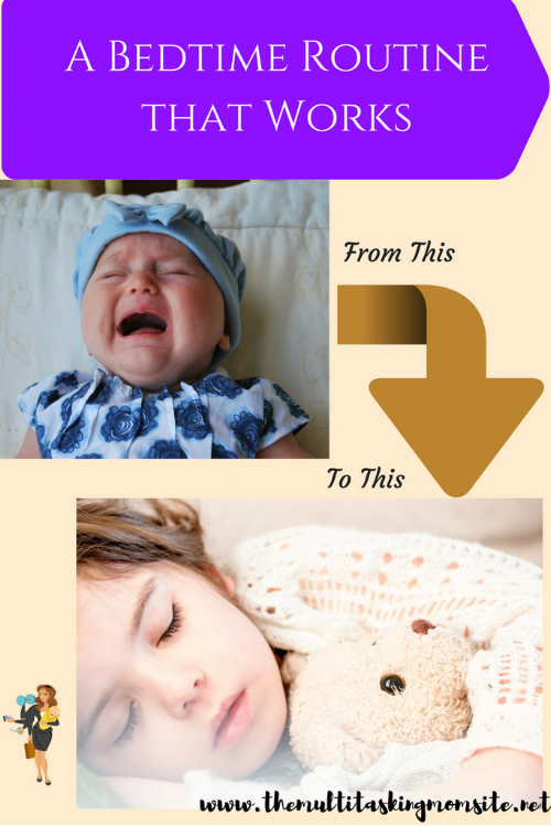 The 3 parts we used to create a bedtime routine that works. No bedtime tantrums or being called to all evening when all you want to do is relax.