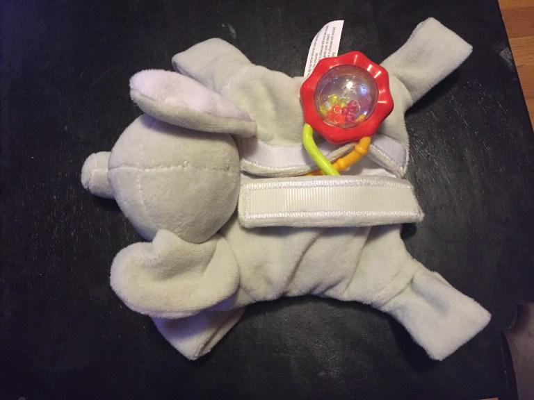Snuggin's handy velcro pouch