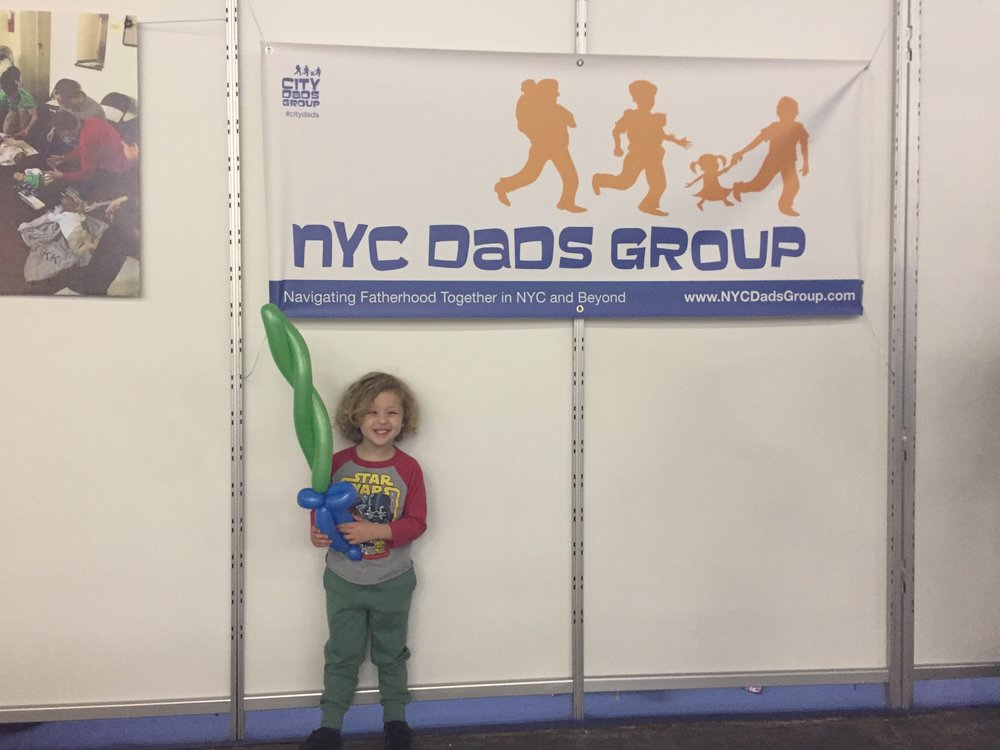 Tyler and his light saber from the NYC Dads Group