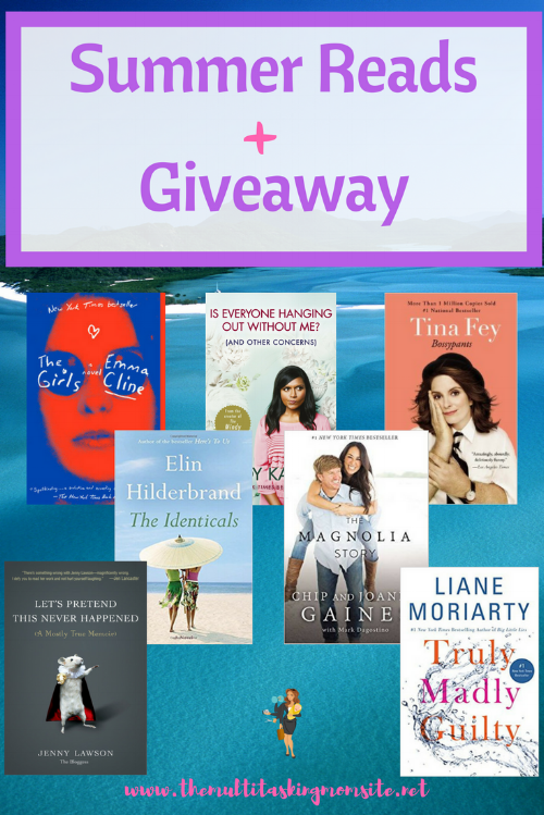 It's officially summer! That means it's time to relax, recharge, and read.  In about 2 weeks I will be completely done with my Master's degree, which means I too can finally get back to reading just for fun.  I am so excited! Check out my Summer reading picks and enter my giveaway.