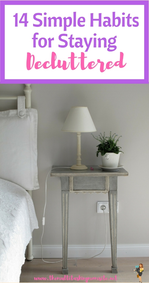 Once you declutter a room how do you keep it that way? These simple habits will help you do just that.