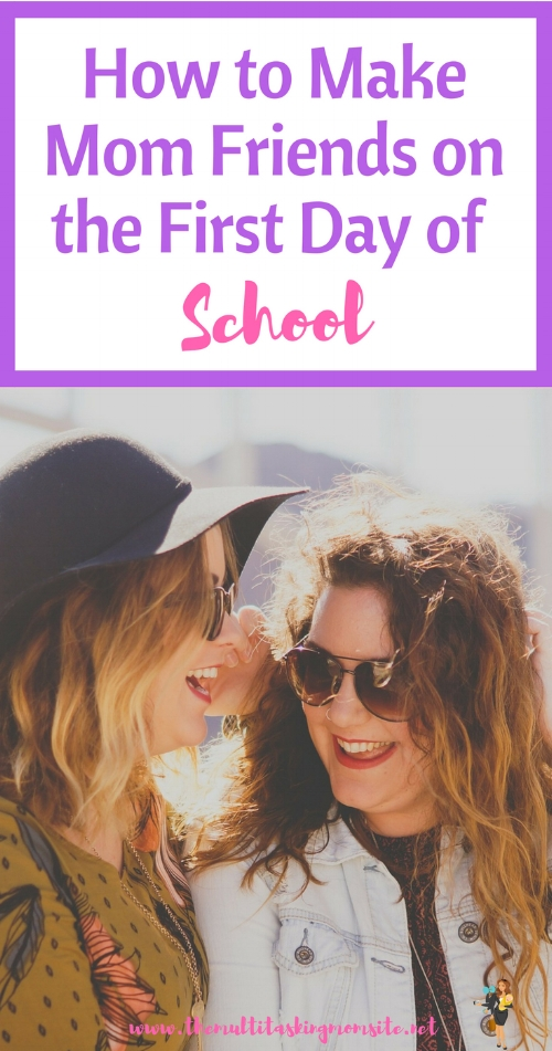 Tips for developing relationships with the other moms on the first day of school. Especially helpful for introverted moms like me.